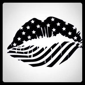American lips car / window decal
